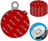 Anteel - Kit de Repuesto Adhesivo Adhesivo Adhesivo para salpicadero (80mm), diseño de círculos Resistentes al Calor de Doble Cara para Ventosa de Coche, Disco y Parabrisas
