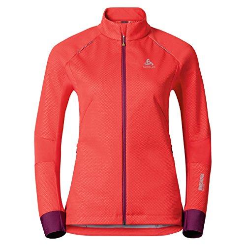 Odlo Damen Skifahren Jacke Jacket Frequency 2.0 Windstopper Bekleidung, Pome Granate, XL