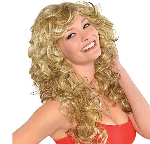 amscan 844158 70s Bombshell Wig, Standard, Blonde
