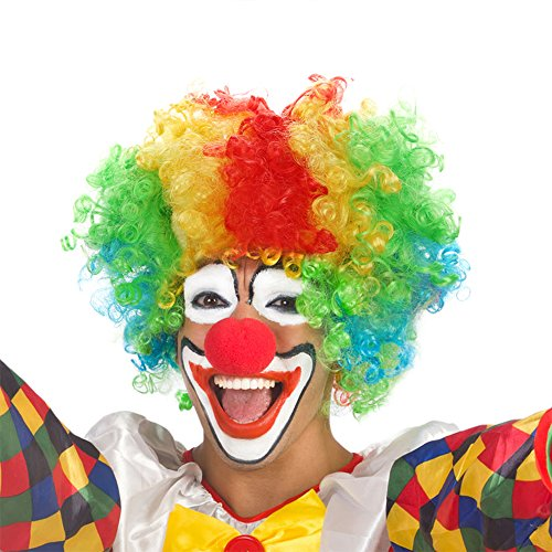 Dance Fairy clown parrucca e schiuma naso rosso per clown costume party puntelli accessori per travestimenti per matrimoni festival Carnevale feste Prop