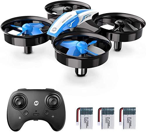 Holy Stone HS210 Mini Drohne für Kinder, RC Quadrocopter Helikopter Ferngesteuert mit 3 Akkus, 21 Min. Lange Flugzeit, Automatische Höhenhaltung,360 Flip,Headless Modus Ideal für Anfänger Mädchen,blau