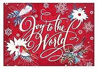 パンチスタジオ 【クリスマス】 立体 グリーティングカード 封筒セット Lサイズ (こまどり×レッド) 44698