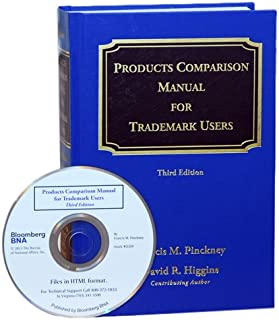 Products Comparison Manual for Trademark Users, Third Edition, with CD-ROM