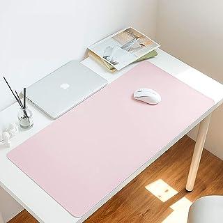 per tastiera e laptop 60x40cm Blu Tappetino da scrivania per videogiochi//scrittura grande organizer da scrivania con bordo di protezione in pelle impermeabile