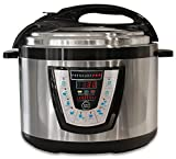 10-in-1 PressurePro 10 Qt Pressure Cooker - Multi-Use Programmable Pressure Cooker, Slow Cooker, Rice Cooker, Steamer, Sauté and Warmer - Black