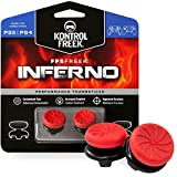 KontrolFreek FPS Freek Inferno para PlayStation 4 (PS4) y PlayStation 5 (PS5) | Performance Thumbsticks | 2 Alturas elevadas, cóncavo | Rojo