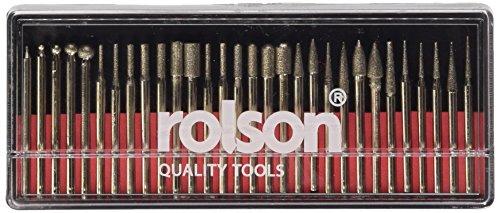 Rolson 24680 - Fresa de cabeza cuadrada (30 unidades de diferentes tamaños)