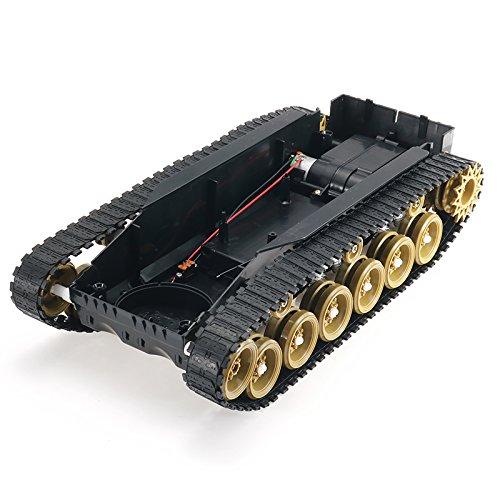 BouBou 3V-9V DIY Choque Absorbido Smart Robot Tanque Chasis Crawler Car Kit con 260 Motor para Arduino Scm