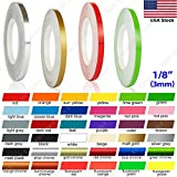 N / A 32 Feet 1/8' Roll Vinyl Pinstriping Pin Stripe DIY Self Adhesive Line Car Tape Decal Stickers (Fluorescent Yellow)