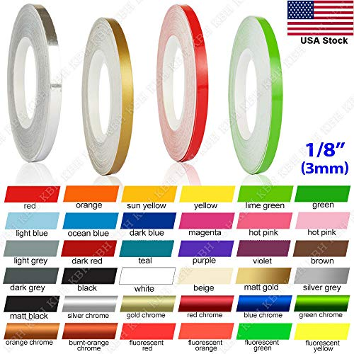 "N / A 32 Feet 1/8"" Roll Vinyl Pinstriping Pin Stripe DIY Self Adhesive Line Car Tape Decal Stickers (Purple)"
