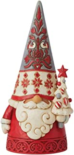 Enesco Jim Shore Heartwood Creek Nordic Noel Gnome with Tree Figurine