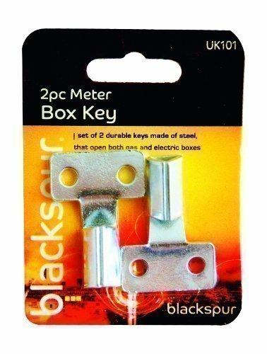 The Home Fusion Company - Cassetta per contatore, chiave triangolare, confezione da 2
