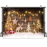 Dudaacvt 7x5ft Christmas Backdrops Winter Snow Photography Back Drop Christmas Deer Bokeh Stars Backgrounds Holiday Children Photo Professional Photography StudioD215