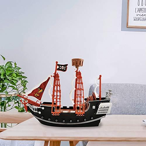 27 * 19 * 6.5CM Creator Barco Pirata Juguete de Construcción,Juguete de juego de rol de barco pirata,pirata figuras,Barco Pirata Juguete, arquitectura 3D Nano Micro Blocks,para regalo de cumpleaños