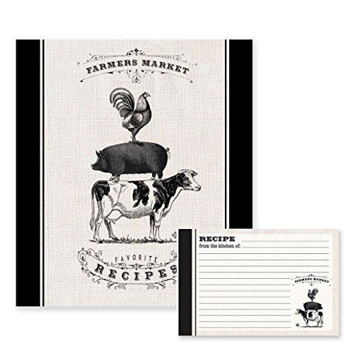 Farmers Market Recipe Binder and Recipe Cards Set