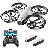 Potensic P7 Mini Drone pour Enfant, Caméra 720P, 20 Minutes de Vol, Mode de Combat, 2 Batteries, Convient à l'intérieur, Blanc