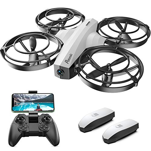 Potensic P7 Battle Drone for Kids, FPV Drone with 720P Camera Racing Drone Quadcopter with Battle Mode, Flight Route Setting Mode, Gesture Control, Altitude Hold, Headless Mode, 3D Flip, 2 Batteries