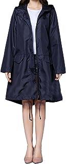 comprar comparacion Chaqueta Impermeable Mujer Capucha Abrigo Manga Larga con Sudadera Portable Rápido Rompevientos