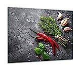QTA | Plaque de protection pour plaque de cuisson 60 x 52 en verre pour plaques à induction Protection contre les éclaboussures Plaque de découpe en verre Noir