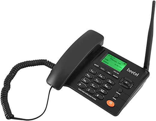 Beetel Fixed landline Phone Wireless with LED Display, Dual Sim GSM, Phone Memory 1000 Numbers, Speaker Phone, FM Radio, Crystal Clear Conference…