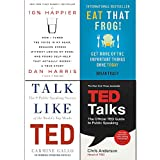 Eat That Frog!, 10% Happier, Talk Like TED, TED Talks 4 Books Collection Set
