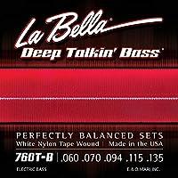 LA BELLA (ラベラ) 5弦ベース弦 760T-B White Nylon Tape, 5-String 60-135