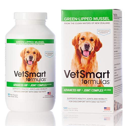 VetSmart Advanced Hip and Joint Complex with MSM - Provides Relief of Dog Joint Pain - 100% Natural Pain Relief Kansas