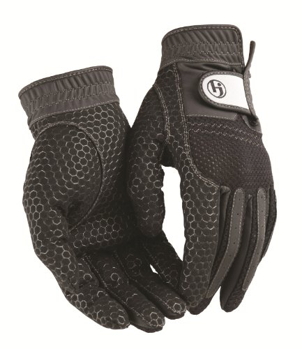 HJ Glove Men's Black Weather Ready Rain Golf Glove, X-Large, Pair