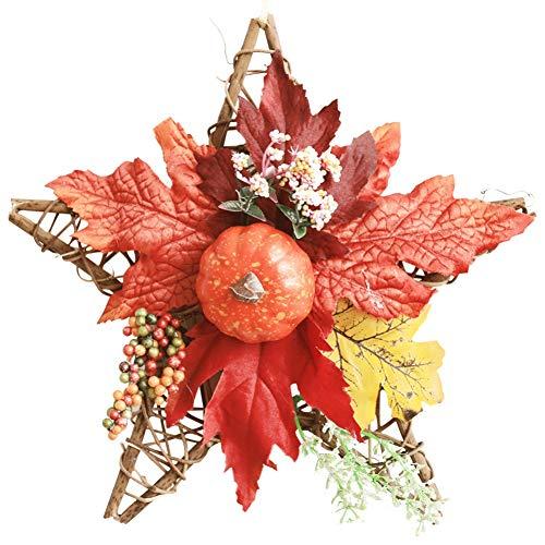 wanhonghui Decorazioni Parete,Laurea,Corona Alloro,Corona Alloro Laurea,Corona Laurea,Ghirlanda Finta,Foglie finte,Autunno Artificiale Ghirlanda,Appesa per Halloween Ringraziamento Natale