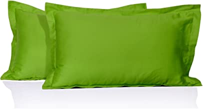 "MISR 300 TC 100% Cotton 2 Piece Cotton Pillow Cover Set,Pillow Case 17""x 27"" Parrot Green"