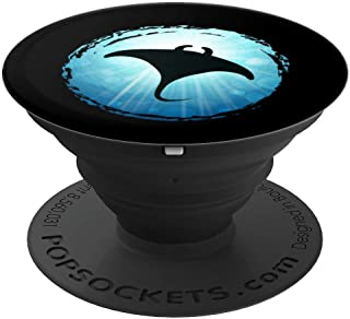 Manty Ray Scuba Diving Ocean Sea Dive Freediving Fun Gadget - PopSockets Grip and Stand for Phones and Tablets
