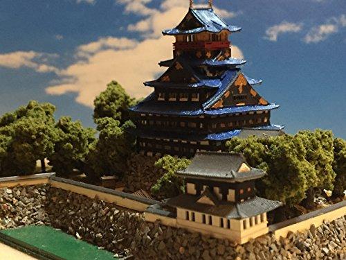 戦国の城 豊臣秀吉 伏見城天守閣 お城 模型 天守閣のジオラマ完成品 A5サイズ