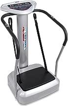 Hurtle Vibration Platform Upgraded Full Body Fitness Machine Exercise - Crazy Fit Massager w/Adjustable Speed Level 2 Resistance Bands 3 LED Screen and BMI Sensor Monitor - HURVBTR85