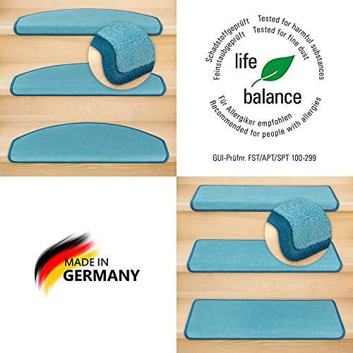 Kettelservice-Metzker Stufenmatten Vorwerk Uni Einzeln und Sparset's Halbrund & Rechteckig Türkis 14 Stück Halbrund