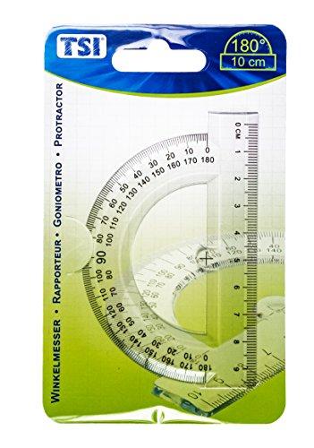 TSI 46208Transportador Regla con 180grados 10cm