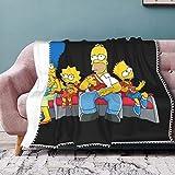 Die Simpsons Fleece-Decke mit Pom Pom FringeSuper