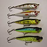 Wowobjects 1Pc Light Crazy Fish - 1X Fishing Topwater Popping Baits Popper Pike