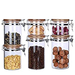 KKC HOME ACCENTS Store Glass Storage Jars with Airtight Locking Clamp Lids Review