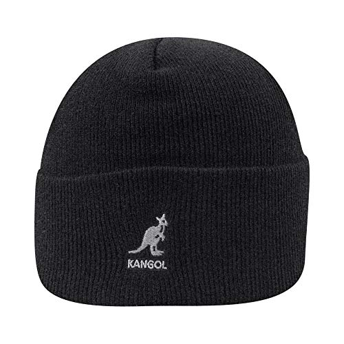 Kangol Acrylic Cuff Pull-on Bonnet, Noir, (Taille Fabricant: One Size) Mixte