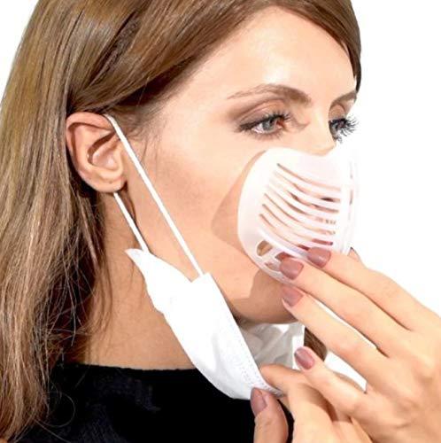 Mayda 5X Stück 3D Maskenhalterung, Mundschutz Abstandshalter - Innerer Stützrahmen des Mund und Nasenschutz, Silikonhalterung mehr Platz für Komfortables Atmen waschbar wiederverwendbar (5 Stück)