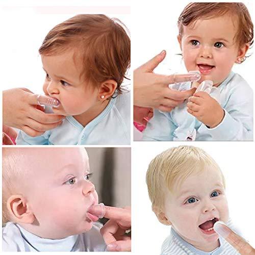 HBselect 6 PCS Bébé Brosse à dents Bébé Doigt Brosse à Dents Doigt Pour Bébé Soins Dentaires...