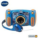 VTech Kidizoom Duo 5.0 - Cámara de fotos digital, infantil con 5 megapíxeles, pantalla a color, juguete para aprender en casa, 10 funciones diferentes, 2 objetivos, azul