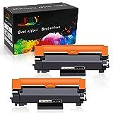 EBY Compatible Brother TN-2420 TN-2410 TN 2420 Cartuchos de Toner para MFC-L2710DW DCP-L2530DW MFC-L2730DW MFC-L2750DW HL-L2350DW HL-L2375DW HL-L2310D HL-L2370DN MFC-L2710DN DCP-L2510D [con Chip]