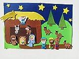 trivishOOp Portal de Belen Fieltro 22 pzas, Nacimiento Niño Jesus Decoracion Juego Regalo...