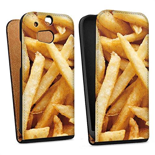 DeinDesign HTC One M8 Tasche Hülle Flip Case Pommes Fritten Chips
