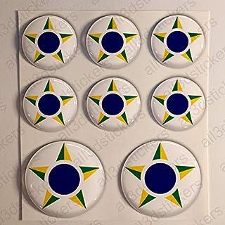 Amazon.es: Bandera de Brasil - Calcomanías y pegatinas / Productos para aficionados: Coche y moto