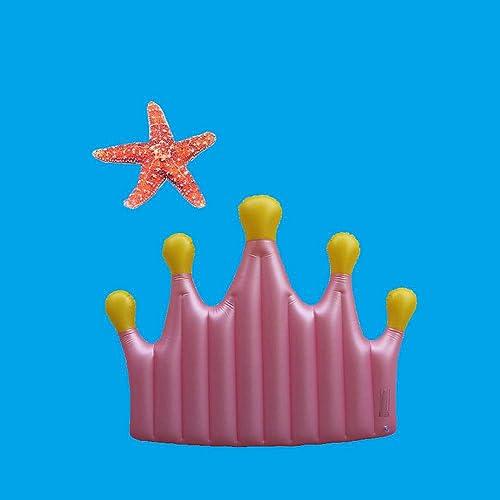 Sommer Neue Rosa Krone Schwimmende Reihe Aufblasbare Spielzeuge, Rosa mädchen Stil Schwimmende Bett Verdickt Schwimmring,schwimmsitz - 150x145cm