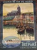 Le tréport Normandie Poster Poster Format 50 x 70 cm,