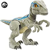 Jurassic World Figurine Dinosaure Articulé Bébé Vélociraptor Bleu, Jouet pour Enfant, GFD40