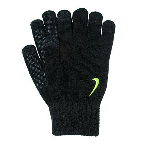 Nike Herren Knitted Handschuhe, Black/Volt, L/XL